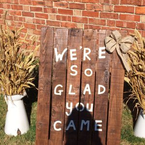 Welcome Board £10
